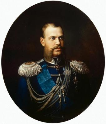 Василий Павлович Худояров. Портрет великого князя Цесаревича Александра Александровича