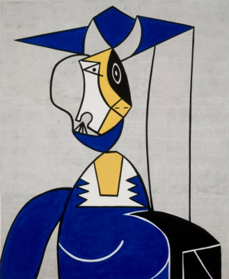 Roy Lichtenstein. A woman in a hat