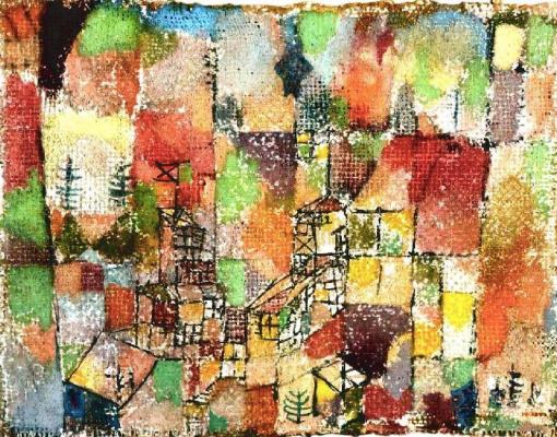Paul Klee. Two suburban houses