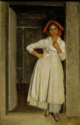 Alexander Andreevich Ivanov. Albano girl in the doorway. Early 1830s