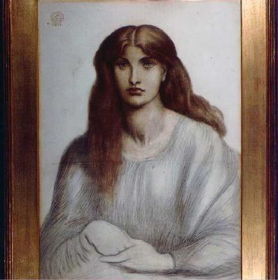 Dante Gabriel Rossetti. Portrait Of Alexa Wilding
