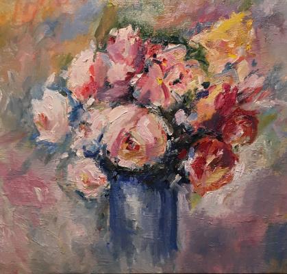 Vsevolod Chistyakov. Still Life To Buy In St. Petersburg Paintings Of Bouquet Still Life