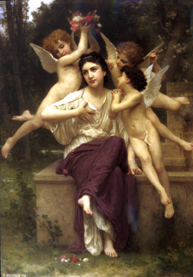 William-Adolphe Bouguereau. Dreams of spring