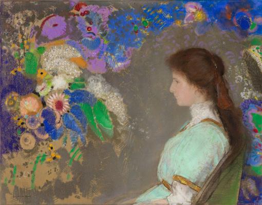Odilon Redon. Portrait Of Violette Heymann