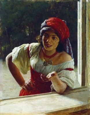 Nikolay Aleksandrovich Yaroshenko. Gypsy. 1886