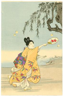 Toyohara Chikanobu. Firefly hunt