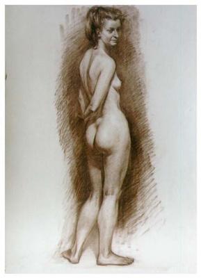 Sergey Alekseevich Makarov. Nude model (twist)
