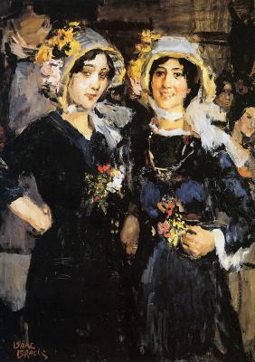 Исаак Исраэлс. Две женщины Париж