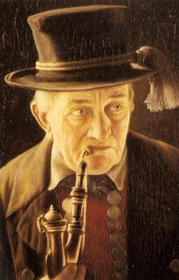 Карл Хойзер. Портрет мужчины с трубкой