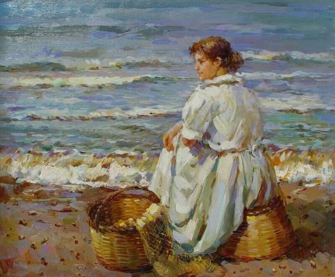 Виндфелдт. Девушка на берегу