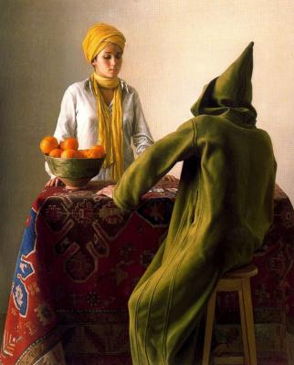 Клаудио Браво. Апельсины на столе
