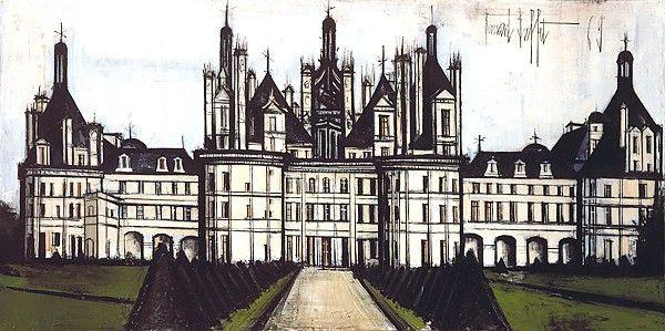 Bernard Buffet. Chateaux de la Loire : Chambord