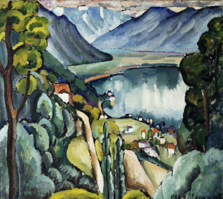 Ilya Ivanovich Mashkov. Lake Geneva. Glion