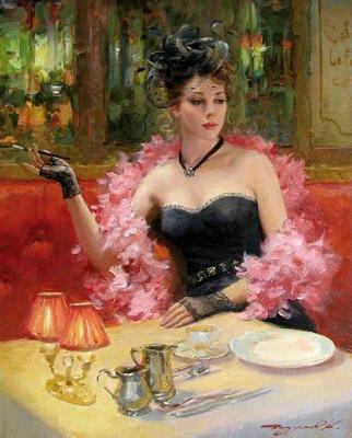 Constantine Razumov. Lady with a cigarette