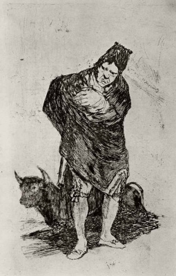 Francisco Goya. Man, zametalsya cloak