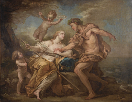 Charles Andre van Loo. Bacchus and Ariadne