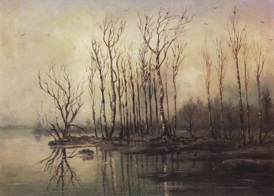 Alexey Savrasov. Early spring. Flood