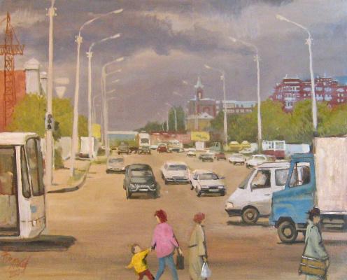 Александр Викторович Беляков. Cold summer 2003. Omsk. Prospect Zhukov.