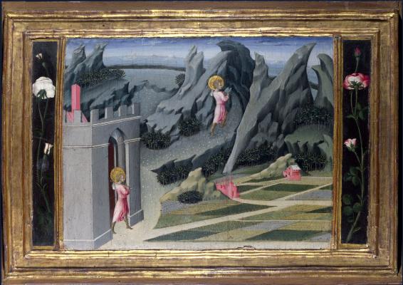 Джованни ди Паоло. Святой Иоанн Креститель отправляеться в пустыню