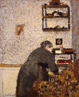 Jean Edouard Vuillard. Madame Vuillard in the living room