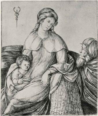 Jacopo de Barbary. Holy family
