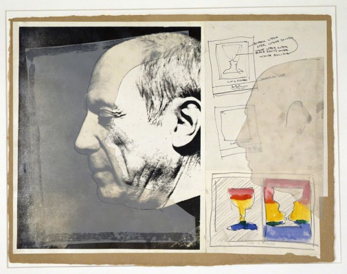 "Jasper Jones. Sketch ""Cups 2 Picasso / Cups 4 Picasso"""