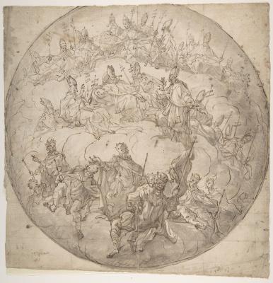Франческо Де Мура. Короли, епископы и папы: набросок для потолка