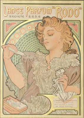 Alphonse Mucha. Rodo Perfume Advertising Poster