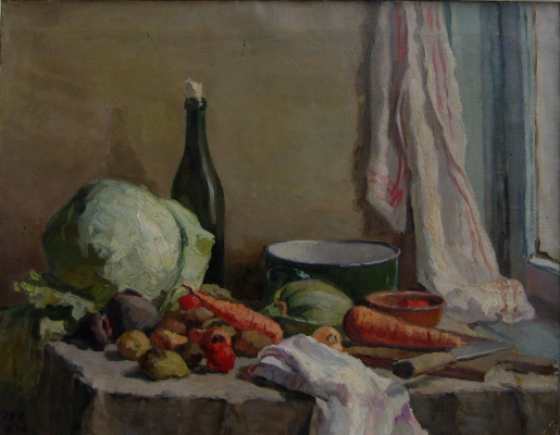 Yuri Ivanovich Khudonogov. Still life. Everything is ready for borsch