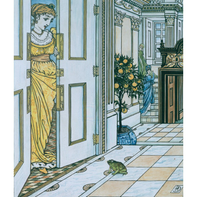 Walter Crane. The toad at the door