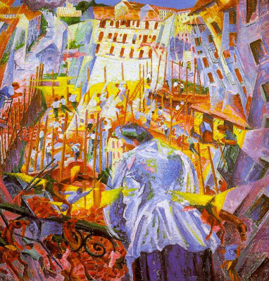 Umberto Boccioni. Street included with the house
