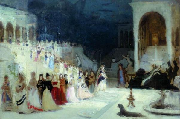 Ilya Efimovich Repin. A scene from the ballet