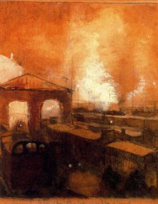 Paul Delvo. Fire