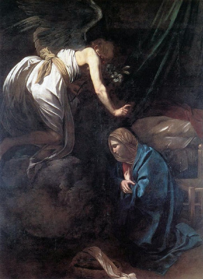 Michelangelo Merisi de Caravaggio. The Annunciation
