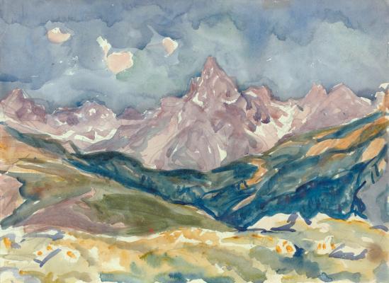 Giovanni Giacometti. Mountain landscape, Switzerland