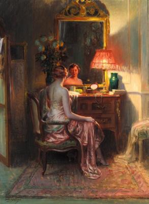 In the boudoir.