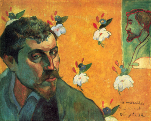 Paul Gauguin. Self-portrait dedicated to Vincent van Gogh (Les Miserables)