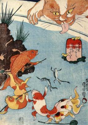 Утагава Куниёси. Японские сказки о рыбах: Сто страшных историй
