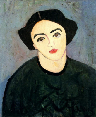 Andre Derain. Madame Derain in green