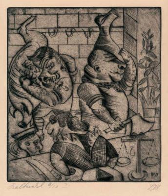 Otto Dix. Butcher Shop