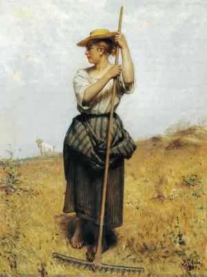 "Peter Nikolay Arbo. ""In the meadow"""
