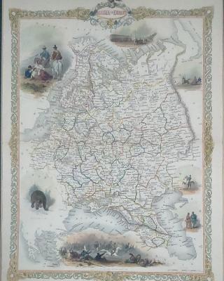 Карта европейской части Российской Империи