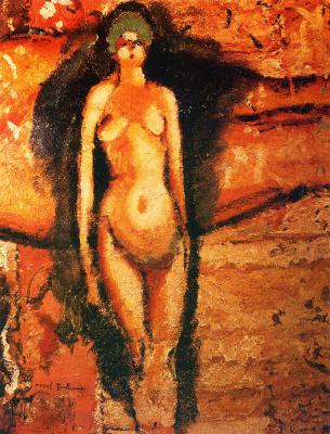 Marcel Duchamp. Standing nude