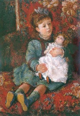 Клод Моне. Портрет Жермены Ошеде с куклой