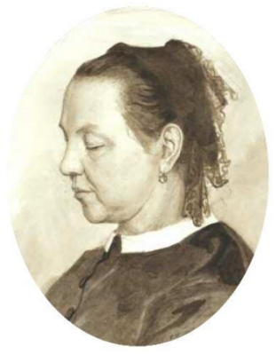 Elena Dmitrievna Polenova. Portrait of M.A. Polenova, mother of the artist
