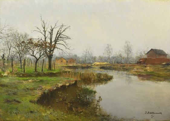 Иван Павлович Похитонов. Jupe-sur-Meuse. Pond