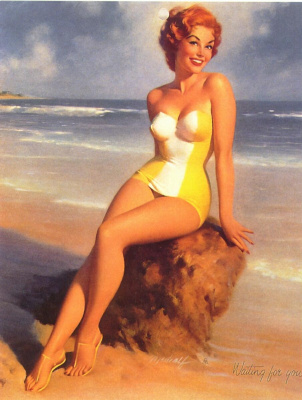 Bill Medcalf. The girl in the yellow swimsuit