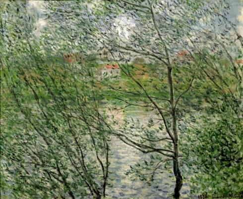 Claude Monet. Springtime through the branches