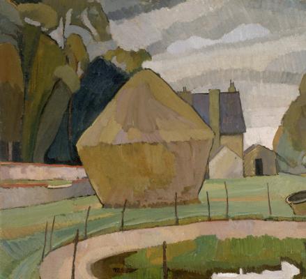 Vanessa Bell. Landscape with haystack, Alechem