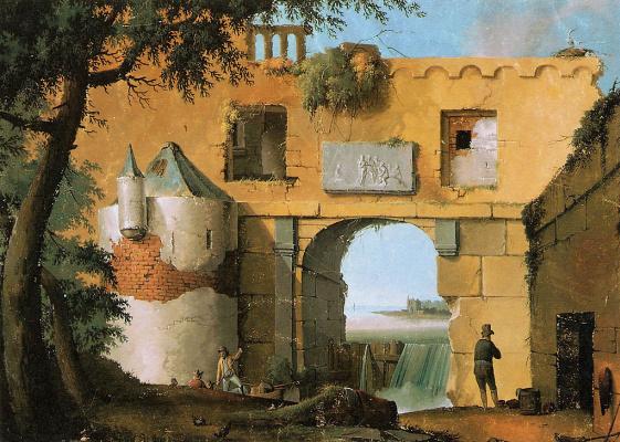 Йозефус Книп. Руины итальянского пейзажа
